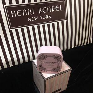 Henri Bendel champagne travel tin candle